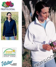 "Produktbild ""Cileste Zip-Sweater - Fruit of the Loom® Zip Neck Sweat färbig"""