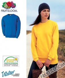 "Produktbild ""Setinos Sweat-Shirt - Fruit of the Loom® Set-in Sweat weiß"""